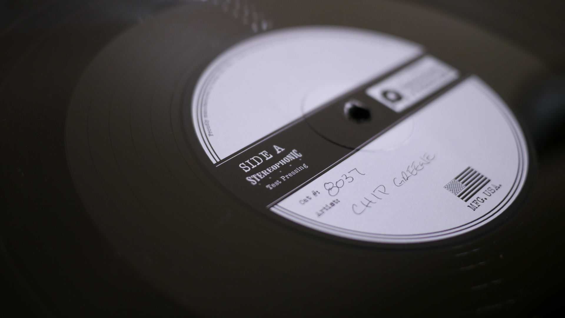 vinyl production test pressing