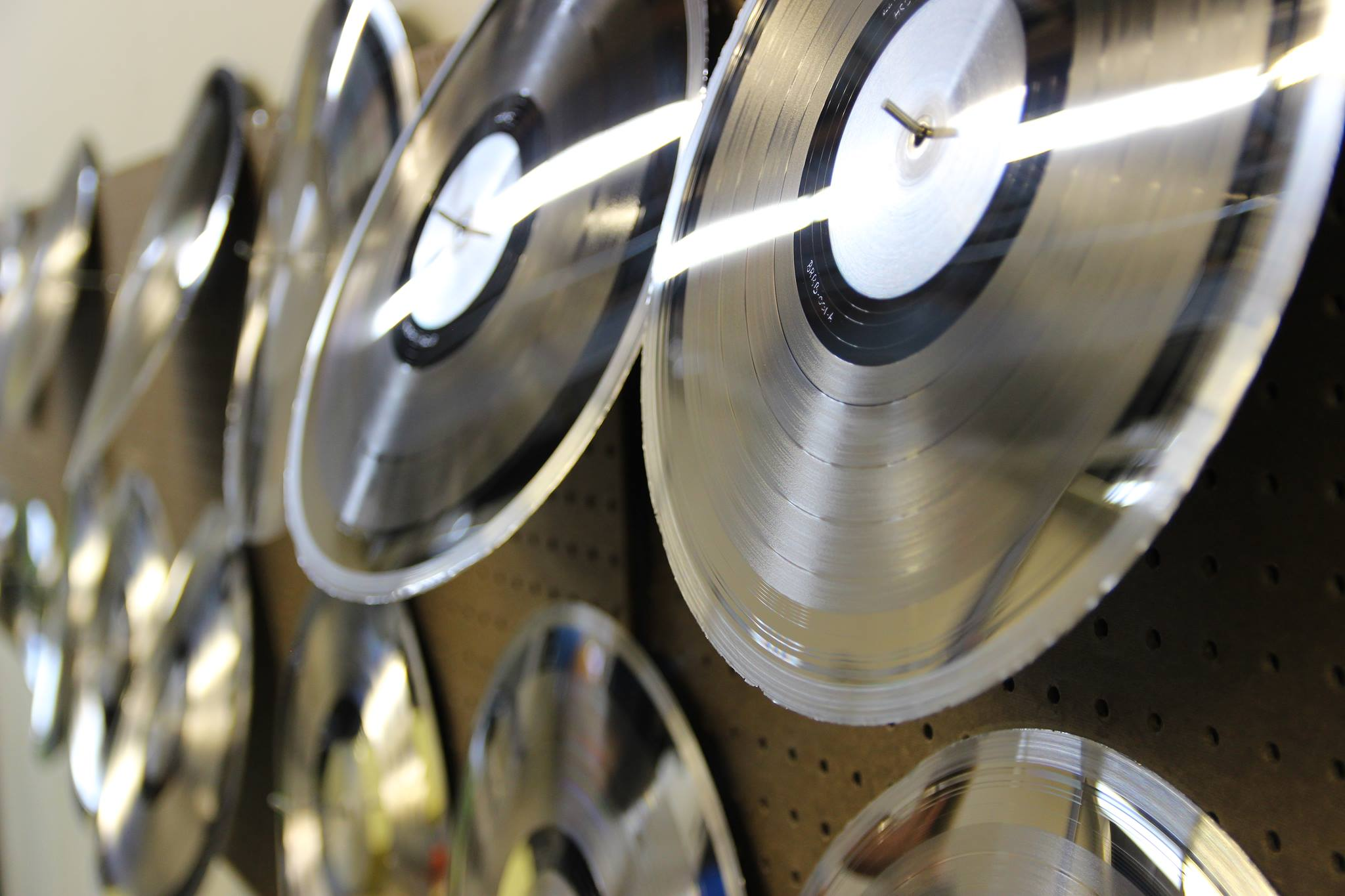 vinyl production stampers drying