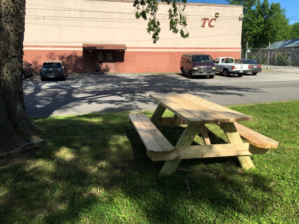 Picnic Table outside of Welcome to 1979 Studios in Nashville